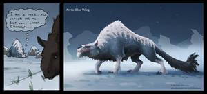 Arctic Blue Warg by Manweri