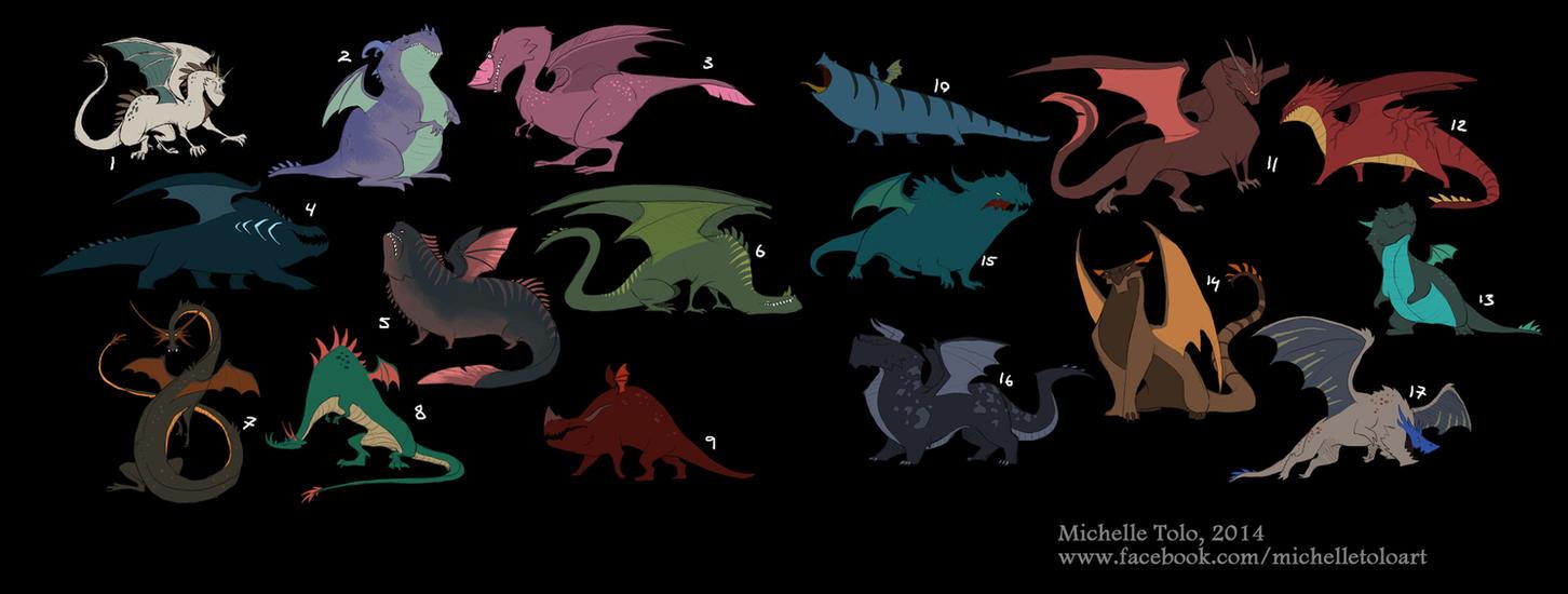 Dragon designs by Manweri