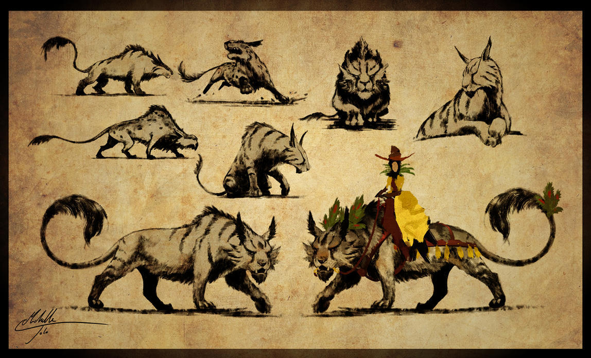 Striped beast designs by Manweri