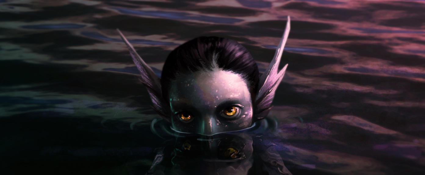 She came from the depths by Manweri