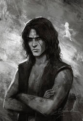 Stormlight Archive - Kaladin and Syl by Manweri