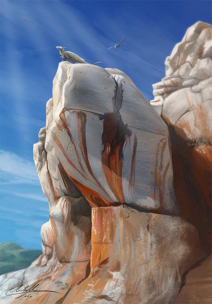 Rock study by Manweri