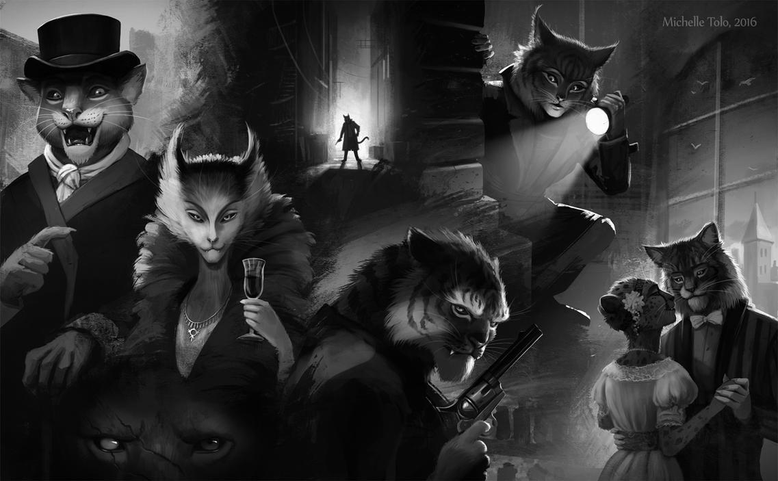 Felidae Noir by Manweri
