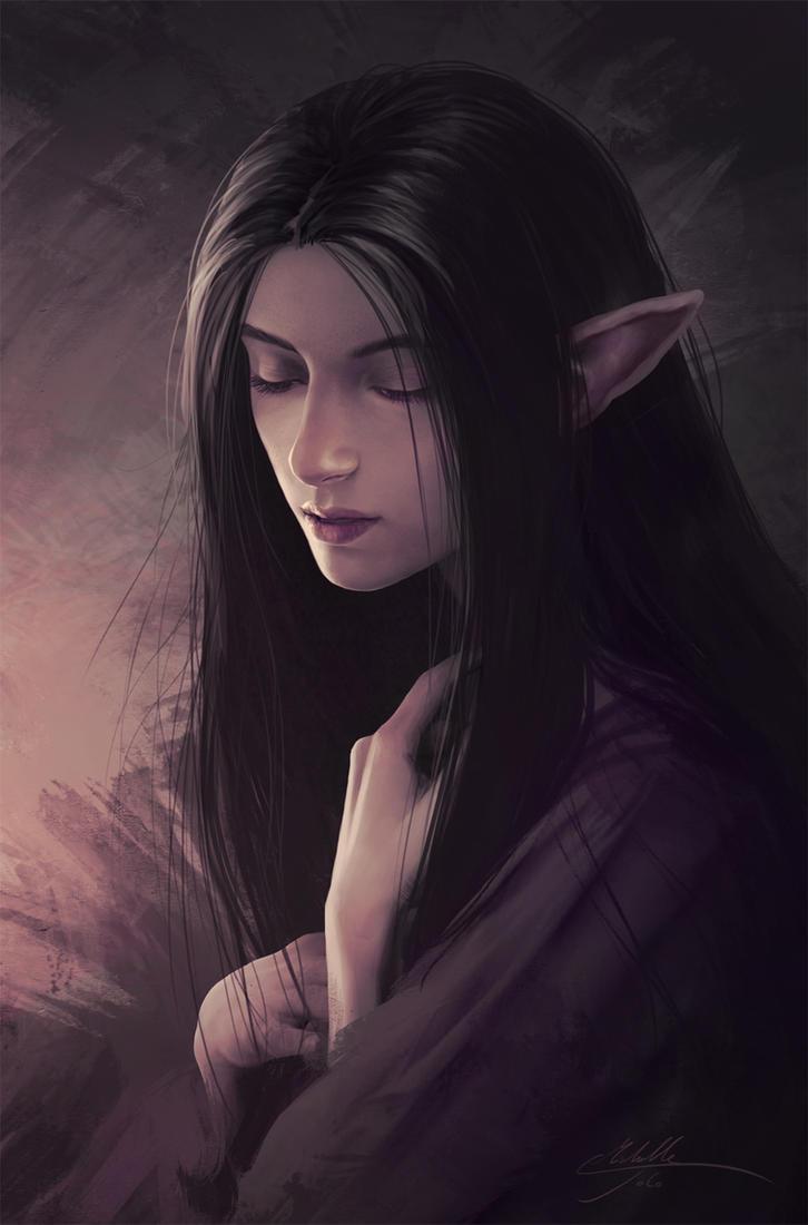 Elven girl by Manweri