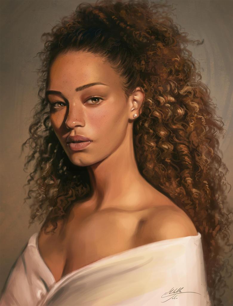 Portrait study by Manweri