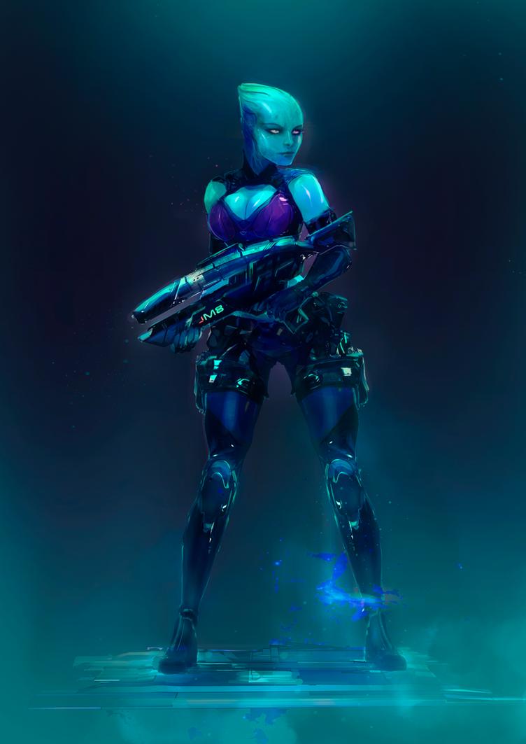 Iyra (Mass Effect) by MatoelGrande