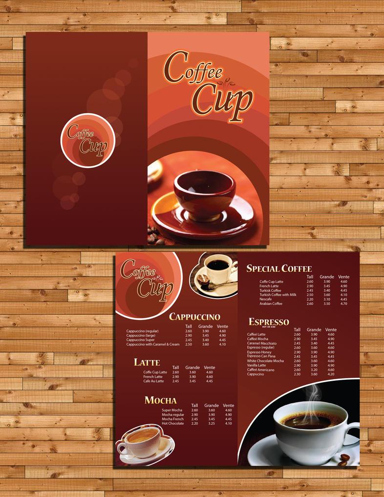 coffee menu design by glympsea on deviantart