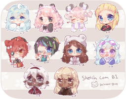 C | Chibi Headshots - batch 1 - by Shirouu-kun