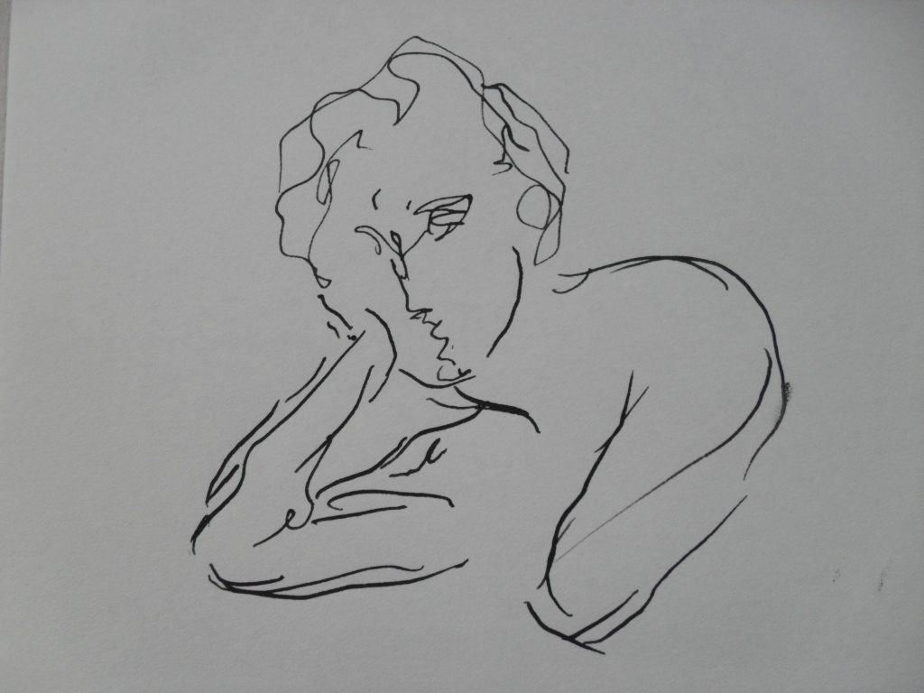 ink sketch by Kasestas