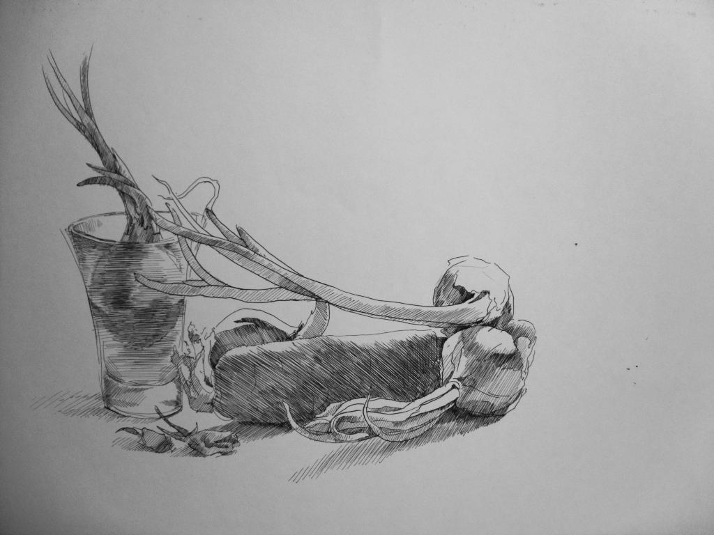 ink still life by Kasestas