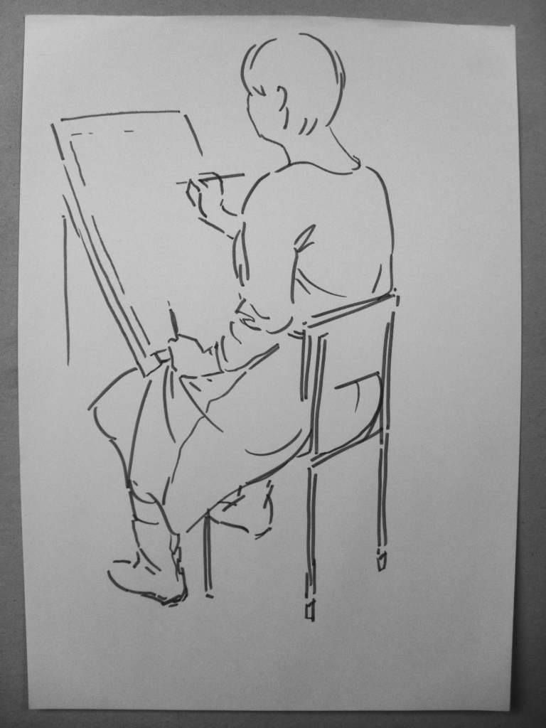 felt-pen sketch by Kasestas