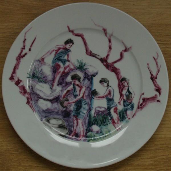 Danaids - porcelain plate by AlexDragu