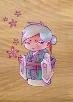 Lucky Kimono Goddess by artofdroth