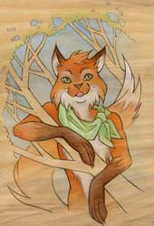 Mr Fox by artofdroth