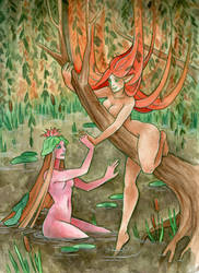 Naiad and Dryad by artofdroth