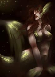 dark mermaid by artofdroth
