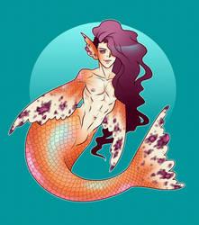 goldfish merman (OPEN) by artofdroth