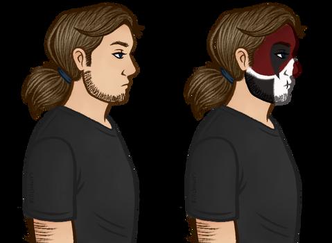 generic skull man profile