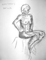 Life drawing - sitting by Torrain