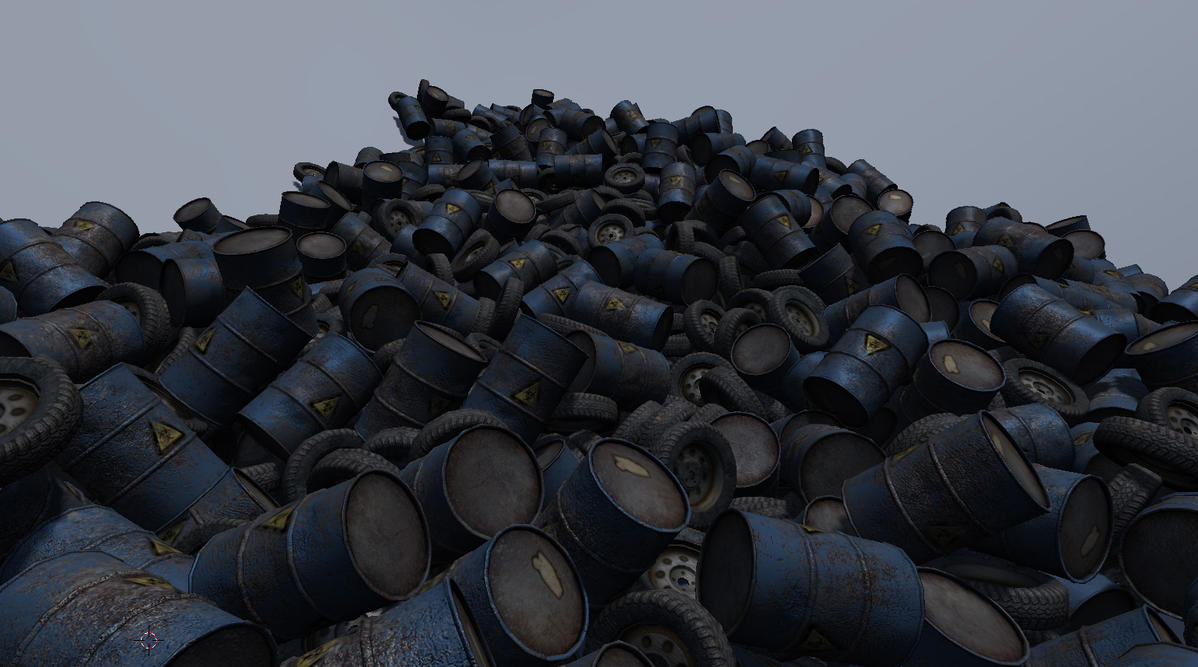 tires and barrels by FredrikH