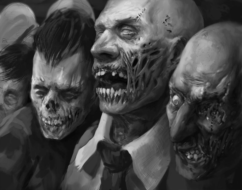 Zombies sketch by Verehin