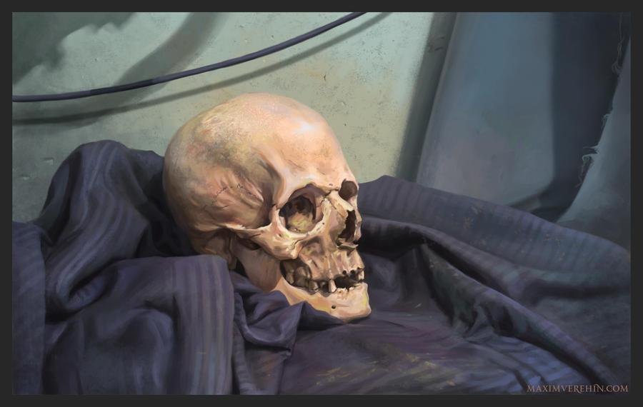 Still life with skull by Verehin