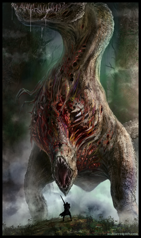 Zombie Dinosaur by Verehin
