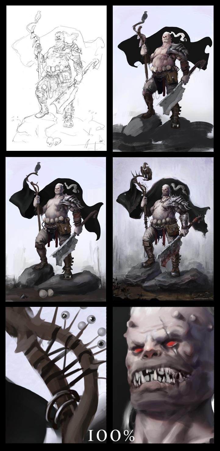 White ork- steps by Verehin