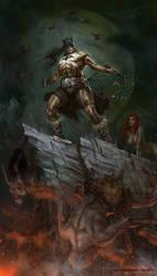 Barbarian batman by Verehin