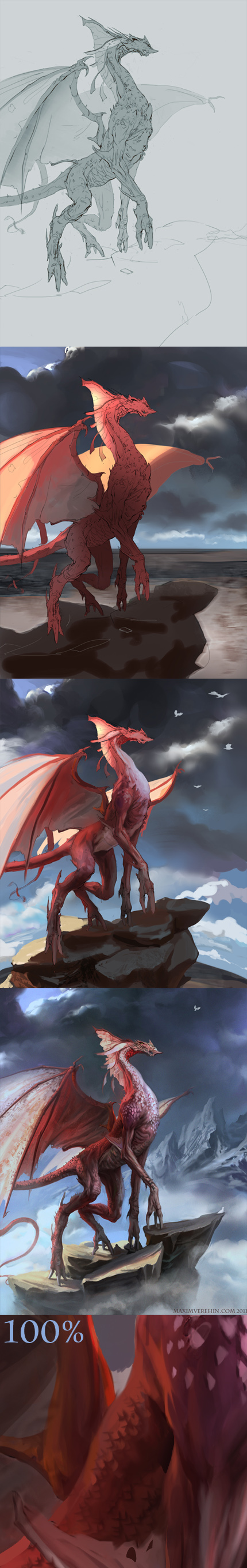Red Dragon- Process by Verehin
