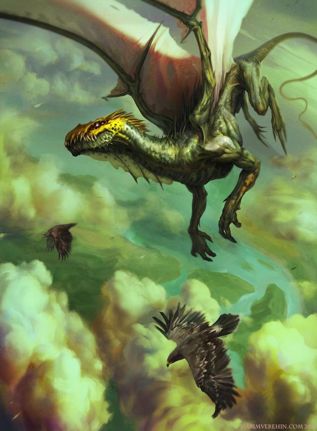 Green dragon by Verehin
