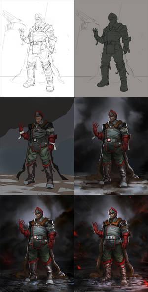 Red General- Steps