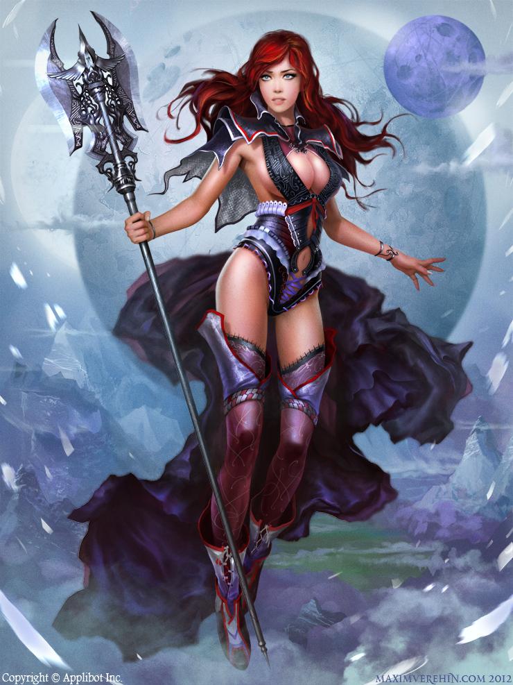 Avila by verehin on deviantart - Fantasy female warrior artwork ...
