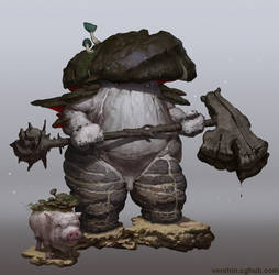 Mushroom warrior by Verehin