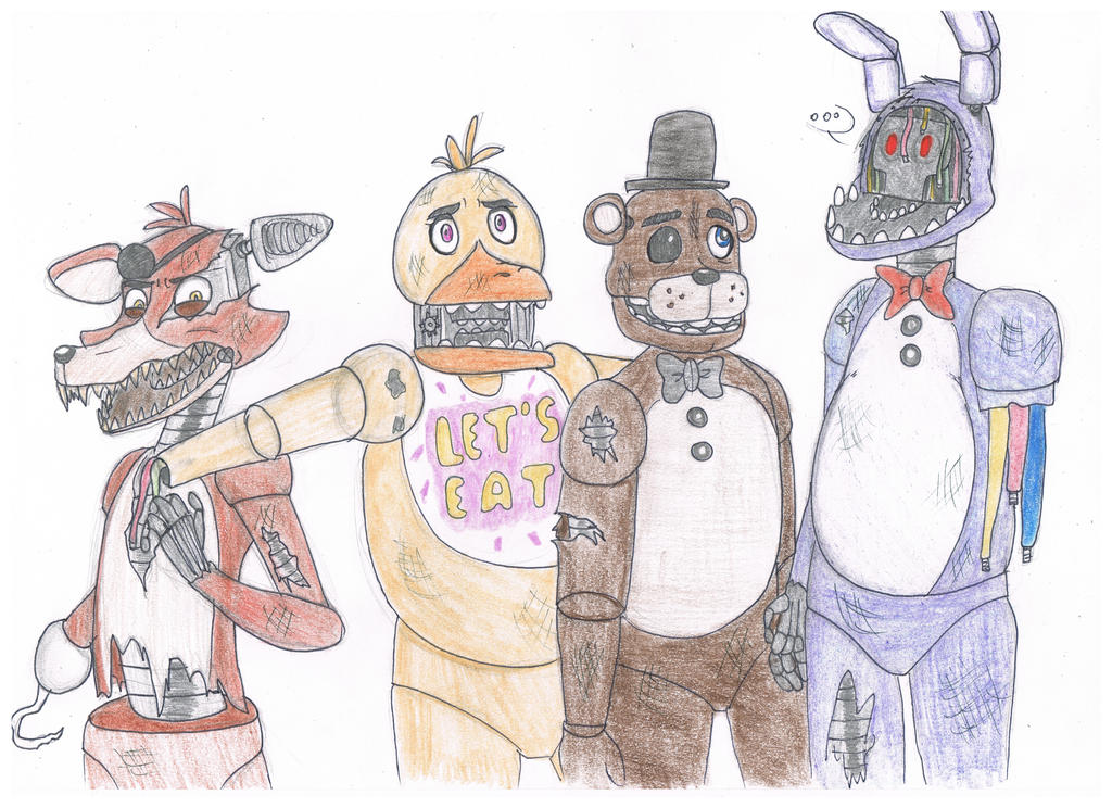 Fnaf2 withered characters au read plz by buck678 on deviantart