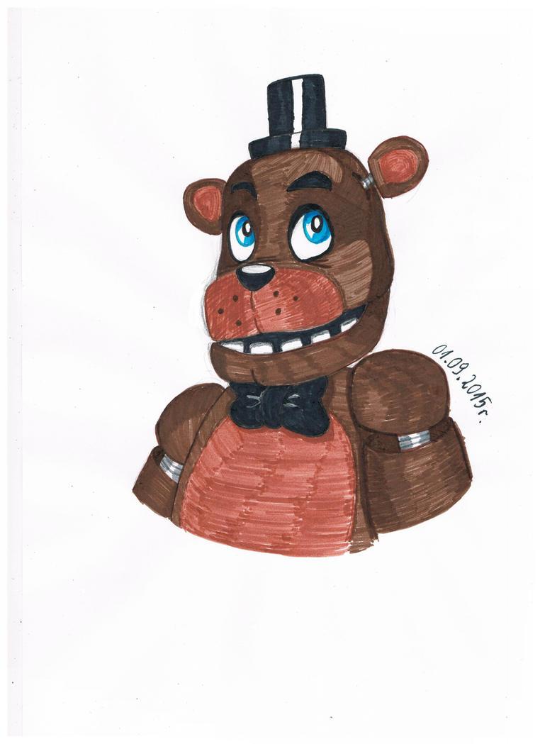 Freddy Fazbear (markers) by buck678