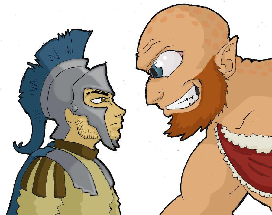 Odysseus and th... Polyphemus Odysseus