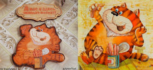 Cat from a cartoon made in the USSR woodcarving 2 by YuriArtov