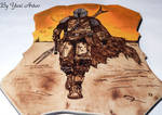 Mandalorian fanart woodburning art FINAL  (Etsy) by YuriArtov
