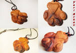 Cat foot pendant is made of plum wood (ETSY) by YuriArtov