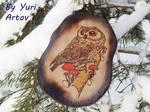 Owl Woodburningart version 2/1  (Etsy Store) by YuriArtov