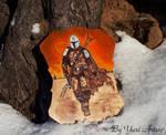 Mandalorian fanart woodburning art FINAL 3 (Etsy) by YuriArtov