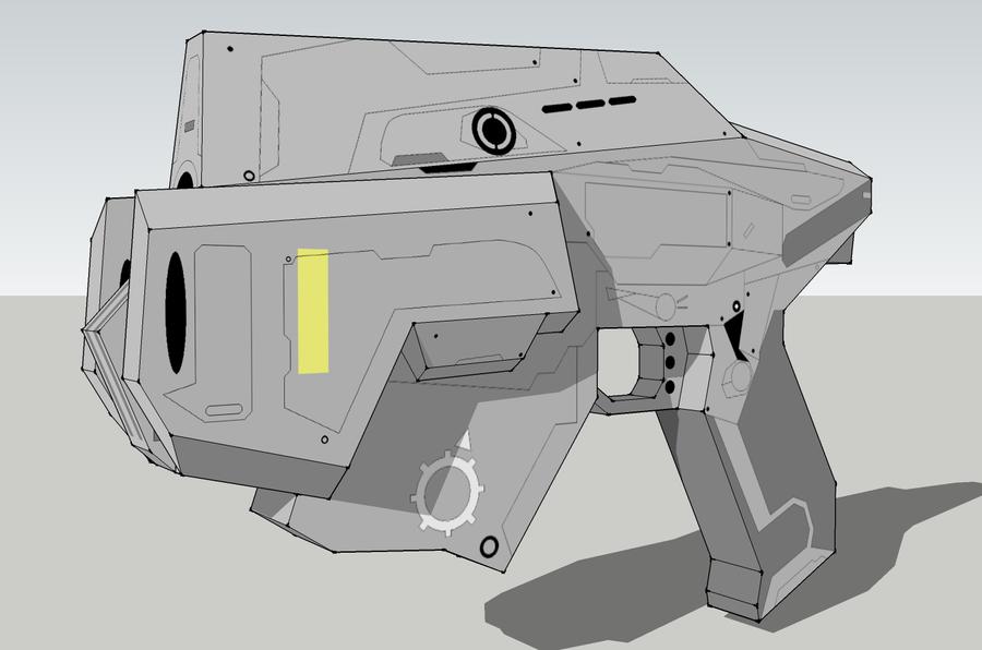 Gears Of War Snub Pistol by Javoid