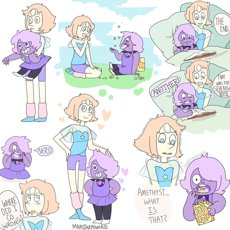 Pearl And Amethyst  by Marstarpower