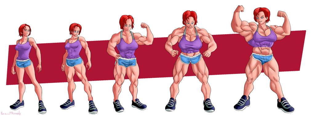 Commission Female Shepard Muscle Growth By