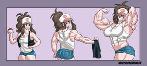 Hilda muscle growth by NeroScottKennedy