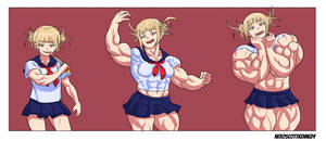 Himiko muscle growth by NeroScottKennedy