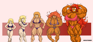 Naomi muscle growth by NeroScottKennedy