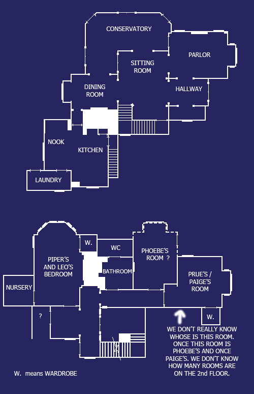 charmed house blueprint by caris94 on deviantart