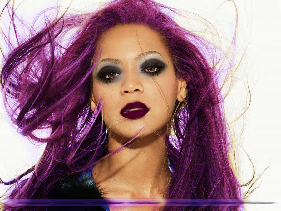 Beyonce Makeup And Purple Hair By Caris94 On DeviantArt